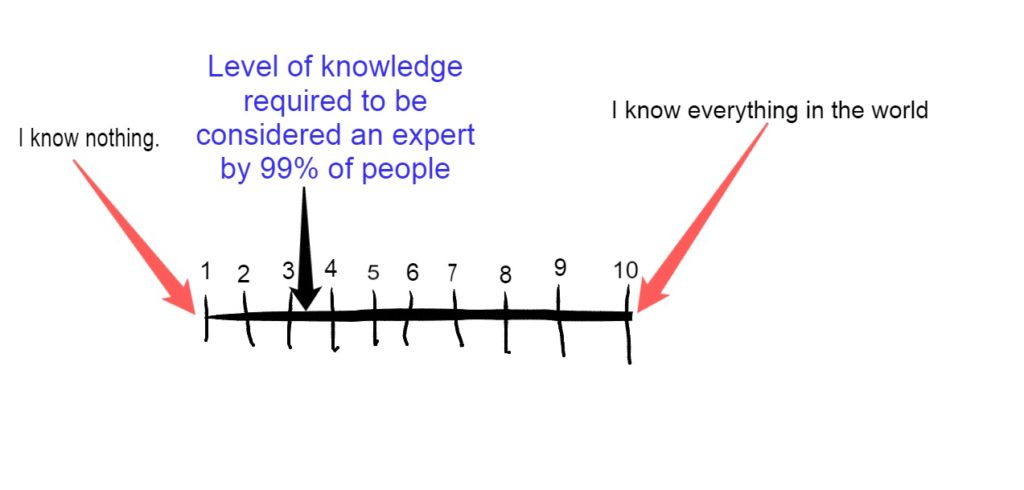 scale of what it actually takes to be an expert